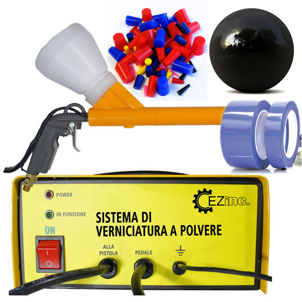 Kit verniciatura a polvere terminali antivento per stufe for Case di kit vittoriano
